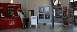 Kleine Fotoausstellung im Reisezentrum Bahnhof Lauda